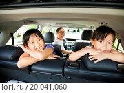 Купить «happy family sitting in the car», фото № 20041060, снято 27 августа 2013 г. (c) easy Fotostock / Фотобанк Лори