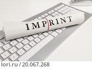 Купить «imprint written on newspaper.», фото № 20067268, снято 25 октября 2014 г. (c) easy Fotostock / Фотобанк Лори