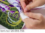Рукоделие. Вышивка крестиком. Стоковое фото, фотограф Вячеслав Плясенко / Фотобанк Лори