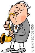 Купить «man with saxophone cartoon illustration», иллюстрация № 20138056 (c) easy Fotostock / Фотобанк Лори