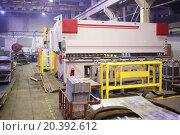 Купить «Industrial building with hydraulic shears for cutting metal structures», фото № 20392612, снято 7 апреля 2014 г. (c) Losevsky Pavel / Фотобанк Лори