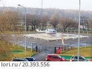 Купить «ambulance helicopter on the helipad in the park», фото № 20393556, снято 10 ноября 2014 г. (c) Losevsky Pavel / Фотобанк Лори