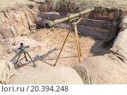 Купить «Mortar and grenade launcher in the trenches», фото № 20394248, снято 12 июля 2014 г. (c) Losevsky Pavel / Фотобанк Лори