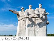Купить «part of Panfilov Heroes Memorial», фото № 20394512, снято 12 июля 2014 г. (c) Losevsky Pavel / Фотобанк Лори