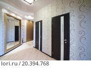 Купить «Hallway with two doors and sliding mirror wardrobe», фото № 20394768, снято 26 мая 2014 г. (c) Losevsky Pavel / Фотобанк Лори