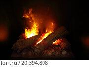 Купить «Burning wood in Indoor fireplace close-up», фото № 20394808, снято 26 мая 2014 г. (c) Losevsky Pavel / Фотобанк Лори