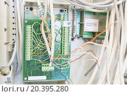 Купить «panel, socket, electrical network and switchboard located in apartment repaired», фото № 20395280, снято 4 июня 2014 г. (c) Losevsky Pavel / Фотобанк Лори