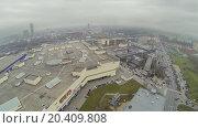 Купить «Urban landscape with shopping and entertainment center Golden Babylon», фото № 20409808, снято 21 ноября 2013 г. (c) Losevsky Pavel / Фотобанк Лори