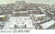 Купить «Residential district Bogorodskoe at winter in Moscow, Russia. Aerial view», фото № 20409940, снято 7 декабря 2013 г. (c) Losevsky Pavel / Фотобанк Лори