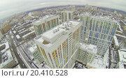 Housing Complex Bogorodskiy, aerial view, фото № 20410528, снято 23 ноября 2013 г. (c) Losevsky Pavel / Фотобанк Лори
