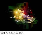 Купить «Backdrop design of symbols, lights, fractal elements to provide supporting element for illustrations on digital communications, science and virtual cloud technology», фото № 20457024, снято 5 мая 2013 г. (c) easy Fotostock / Фотобанк Лори