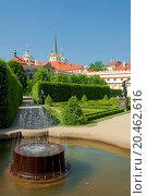 prague, czech republic - baroque wallenstein garden at mala strana. Стоковое фото, фотограф courtyardpix / easy Fotostock / Фотобанк Лори