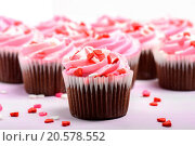 Купить «Pink Cupcakes», фото № 20578552, снято 19 сентября 2019 г. (c) easy Fotostock / Фотобанк Лори