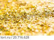 Купить «golden glitter or yellow sequins background», фото № 20716628, снято 5 октября 2015 г. (c) Syda Productions / Фотобанк Лори