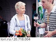 Купить «Светлана Сурганова дает интервью телеканалу ТНТ на фестивале Нашествие-2012», эксклюзивное фото № 20718004, снято 7 июля 2012 г. (c) Ольга Визави / Фотобанк Лори