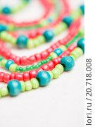 Купить «glass beads and thread beads», фото № 20718008, снято 30 сентября 2015 г. (c) Типляшина Евгения / Фотобанк Лори