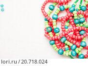Купить «glass beads and thread beads», фото № 20718024, снято 30 сентября 2015 г. (c) Типляшина Евгения / Фотобанк Лори