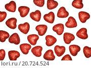Купить «Сердца на белом фоне», фото № 20724524, снято 20 января 2016 г. (c) Boroda / Фотобанк Лори