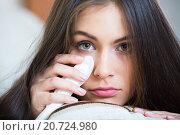Купить «Upset adult girl at home», фото № 20724980, снято 10 апреля 2020 г. (c) Яков Филимонов / Фотобанк Лори
