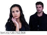 Купить «Couple not talking after argument», фото № 20732564, снято 28 мая 2015 г. (c) Wavebreak Media / Фотобанк Лори