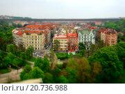 Район Нюсли в Праге (2014 год). Стоковое фото, фотограф Ольга Галахова / Фотобанк Лори