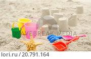 Купить «Sand castles», видеоролик № 20791164, снято 4 апреля 2020 г. (c) Wavebreak Media / Фотобанк Лори