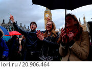 Купить «Christians gathered in Parliament square to pray for the election, people of Britain and government Featuring: Atmosphere Where: London, United Kingdom When: 06 May 2015 Credit: WENN.com», фото № 20906464, снято 6 мая 2015 г. (c) age Fotostock / Фотобанк Лори