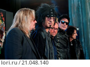 Купить «Motley Crue final tour press conference held at the Law Society. Featuring: Nikki Sixx, Tommy Lee, Vince Neil, Mick Mars Where: London, United Kingdom When: 09 Jun 2015 Credit: Daniel Deme/WENN.com», фото № 21048140, снято 9 июня 2015 г. (c) age Fotostock / Фотобанк Лори