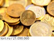 Купить «1 копейка Банка России», фото № 21090060, снято 19 мая 2014 г. (c) Сергеев Валерий / Фотобанк Лори