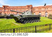 Купить «Авиадесантное самоходное артиллерийское орудие 2С9 НОНА-С образца 1981 г. в музее артиллерии г. Санкт-Петербурга», фото № 21090520, снято 8 августа 2015 г. (c) FotograFF / Фотобанк Лори