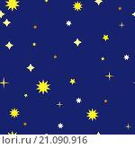 Купить «Звёздное небо. Абстрактный бесшовный фон», иллюстрация № 21090916 (c) Алёшина Оксана / Фотобанк Лори