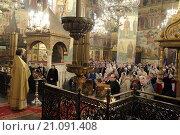 Купить «Священник говорит проповедь в Успенском соборе Московского Кремля», эксклюзивное фото № 21091408, снято 22 января 2016 г. (c) Дмитрий Неумоин / Фотобанк Лори