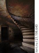 Старая винтовая лестница (2013 год). Стоковое фото, фотограф Петеляева Татьяна / Фотобанк Лори