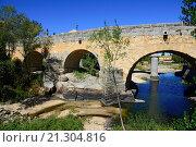 Купить «Adaja River Bridge Avila Spain Castile-Léon Medieval.», фото № 21304816, снято 22 сентября 2015 г. (c) age Fotostock / Фотобанк Лори