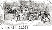 """A scene from William Shakespeare´s play King Richard II, Act 1, scene 3. Mar: """"Stay, stay, the king hath thrown his warder down. """" Illustration by Gordon... Редакционное фото, фотограф Classic Vision / age Fotostock / Фотобанк Лори"""