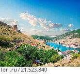 Купить «View of the bay of Balaklava in Crimea», фото № 21523840, снято 26 июня 2013 г. (c) easy Fotostock / Фотобанк Лори