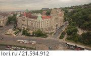 Купить «Будапешт, мост Свободы через Дунай, отель Gellert. Съемка с коптера», видеоролик № 21594912, снято 21 июля 2019 г. (c) kinocopter / Фотобанк Лори