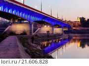 Купить «Slasko-Dabrowski Bridge in Warsaw», фото № 21606828, снято 16 июля 2018 г. (c) easy Fotostock / Фотобанк Лори