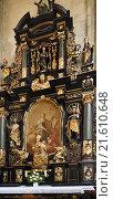 Купить «Кутна-Гора. Собор Святой Варвары. Боковой алтарь (Chrám svaté Barbory)», фото № 21610648, снято 5 января 2014 г. (c) Светлана Зотеева / Фотобанк Лори