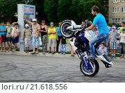 Трюки на мотоциклах (2013 год). Редакционное фото, фотограф Игорь Ясинский / Фотобанк Лори