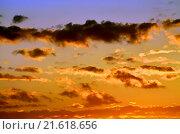 Оранжевый небесный пейзаж. Стоковое фото, фотограф Сергей Трофименко / Фотобанк Лори