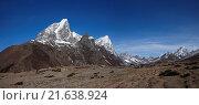 Купить «View of Cholatse, Lobuche East and other high moun», фото № 21638924, снято 4 июля 2020 г. (c) easy Fotostock / Фотобанк Лори