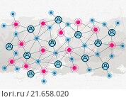 Купить «Social interaction and communication», иллюстрация № 21658020 (c) Sergey Nivens / Фотобанк Лори