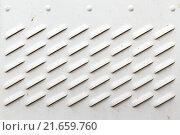 Купить «Detail of Dirty White Panel with Ventilation Grilles», фото № 21659760, снято 15 декабря 2018 г. (c) PantherMedia / Фотобанк Лори