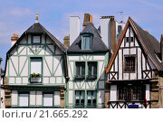 Купить «Typical houses of Auray in France», фото № 21665292, снято 18 января 2019 г. (c) PantherMedia / Фотобанк Лори