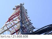 Купить «Антенны базовых станций сотовой связи», фото № 21668608, снято 21 февраля 2014 г. (c) Сергеев Валерий / Фотобанк Лори