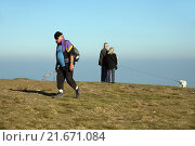 Metzeral, France, tourists on the summit of Hohneck (2010 год). Редакционное фото, агентство Caro Photoagency / Фотобанк Лори