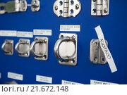 Купить «New cordage assortment on stand close up», фото № 21672148, снято 19 августа 2018 г. (c) Яков Филимонов / Фотобанк Лори