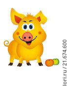 Купить «Свинья, рисунок», иллюстрация № 21674600 (c) Neta / Фотобанк Лори
