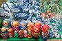 Прилавок с русскими сувенирами, эксклюзивное фото № 21675200, снято 3 июля 2010 г. (c) Юрий Морозов / Фотобанк Лори